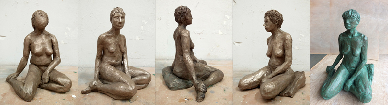 Finishing Bronze-resin sculpture