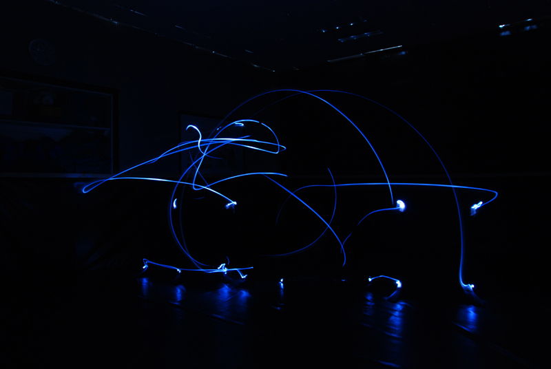 Light Drawing of Capoeira