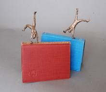 Little bronze book people